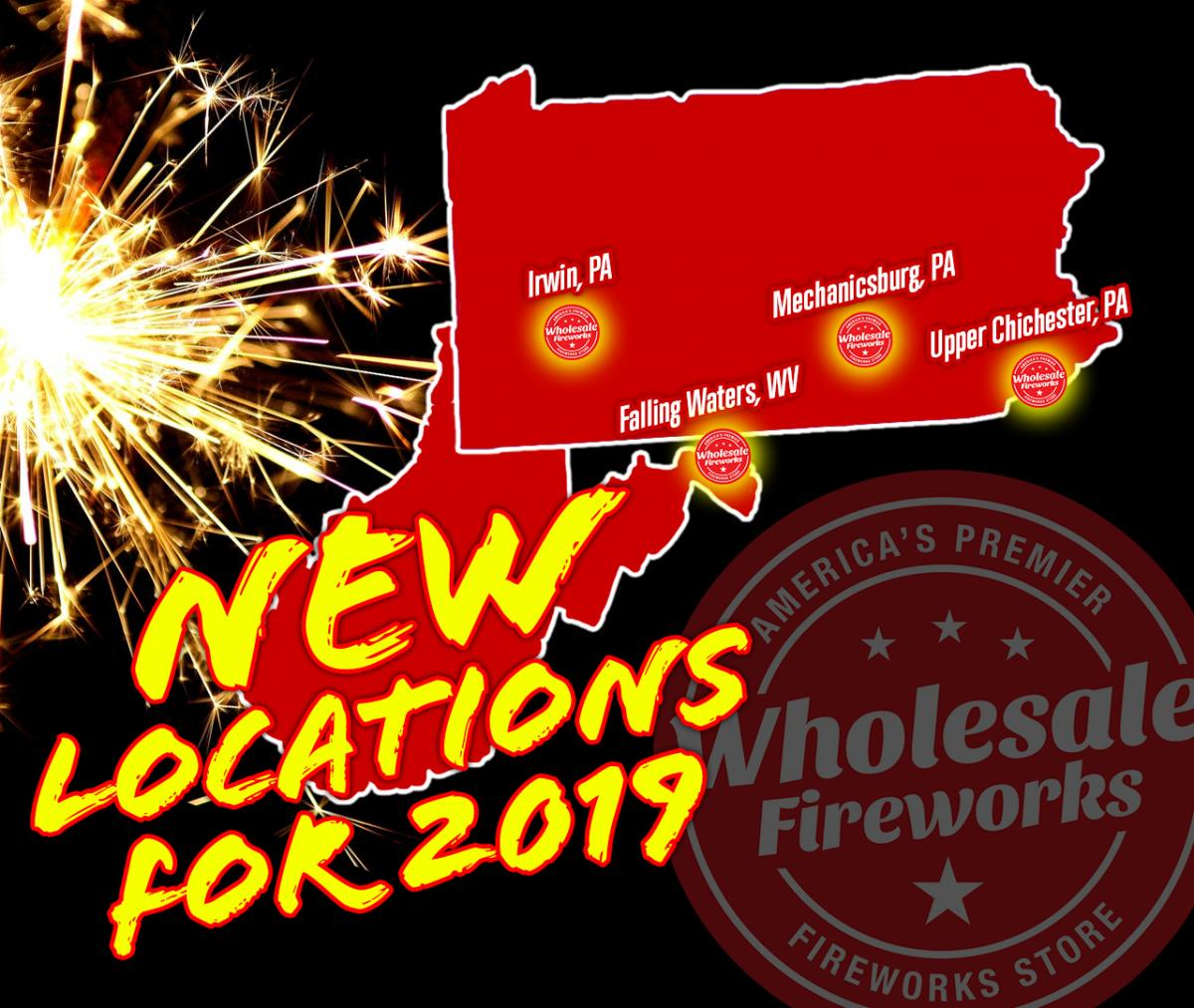 wholesale fireworks locations in PA and WV