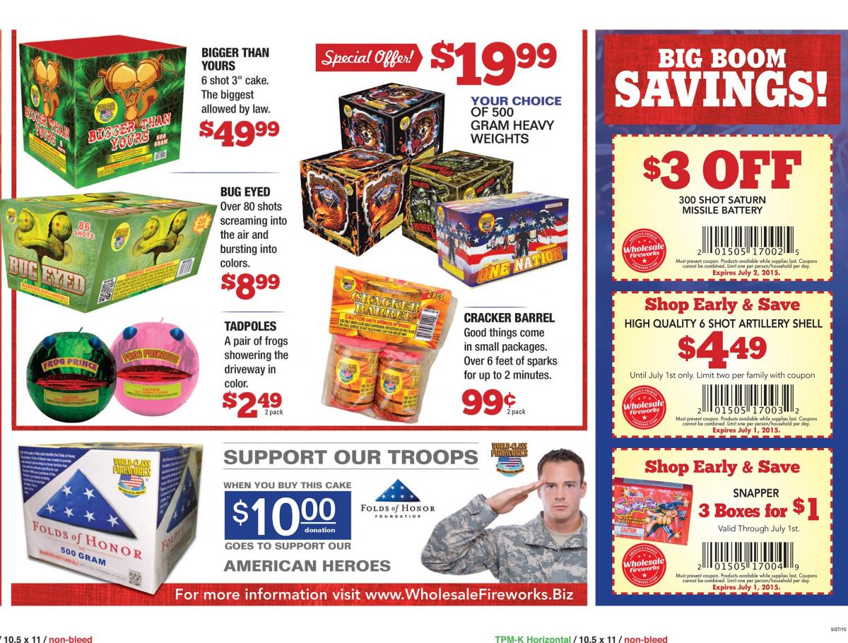 Wholesale fireworks coupons ks