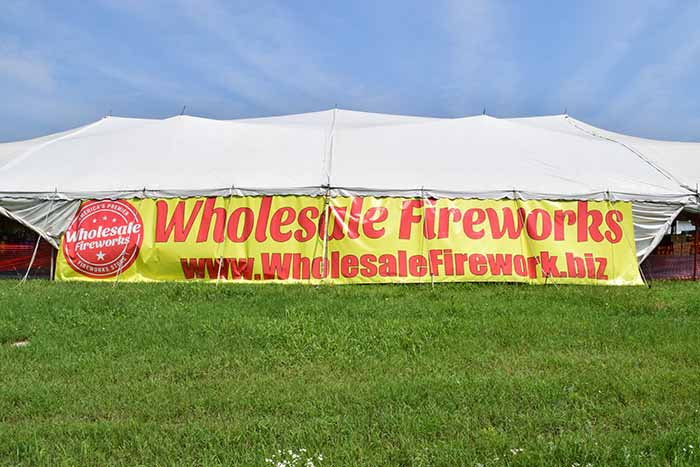 wholesale fireworks tent