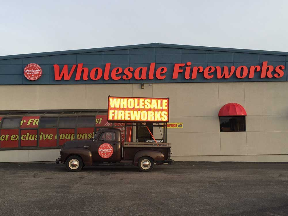 wholesale fireworks truck and led sign